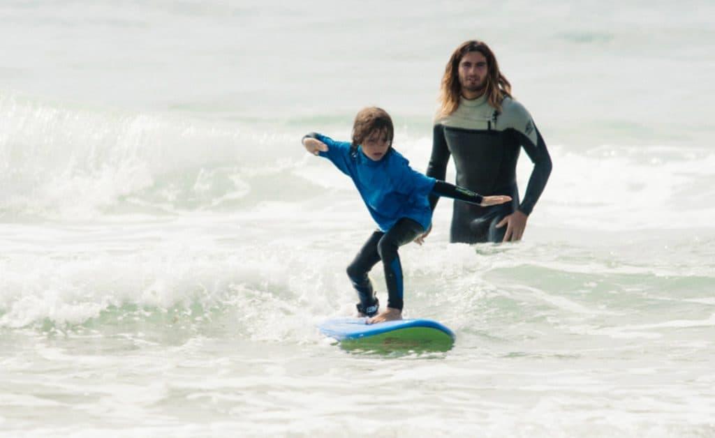 France Surflife Family Carcans kids surf lesson