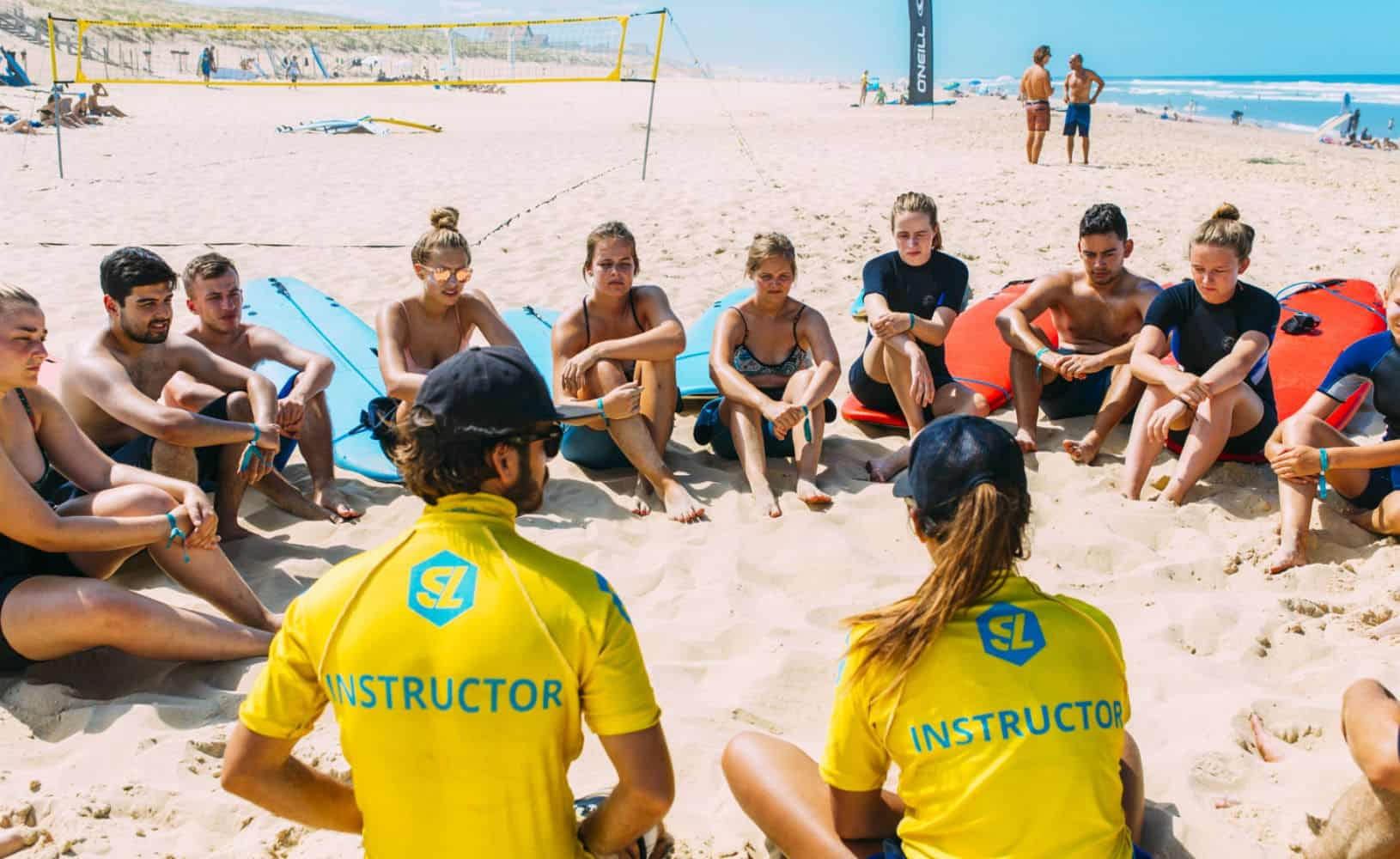 France Surflife O'Neill Surfcamp Mimizan Surf lessons