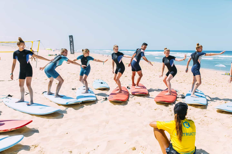 Surflessen Mimizan