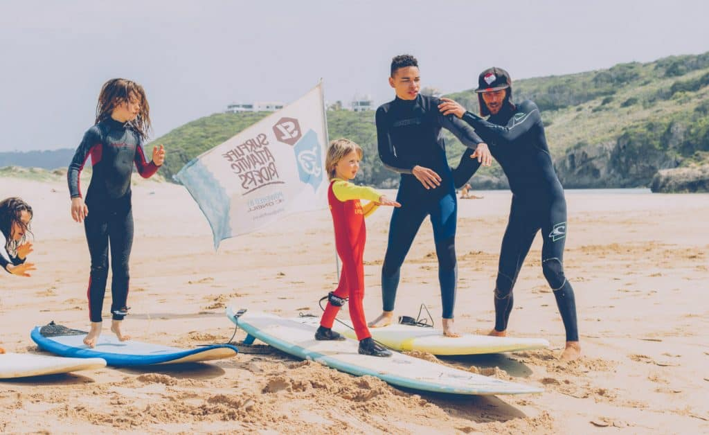 Portugal Aljezur Surflife Family kids lesson