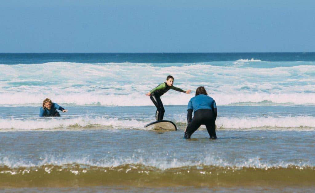 Portugal Aljezur Surflife Family kids surf