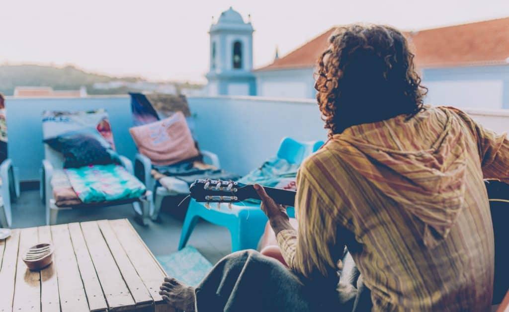 Portugal Surflife Atlantic Riders Rooftop guitar