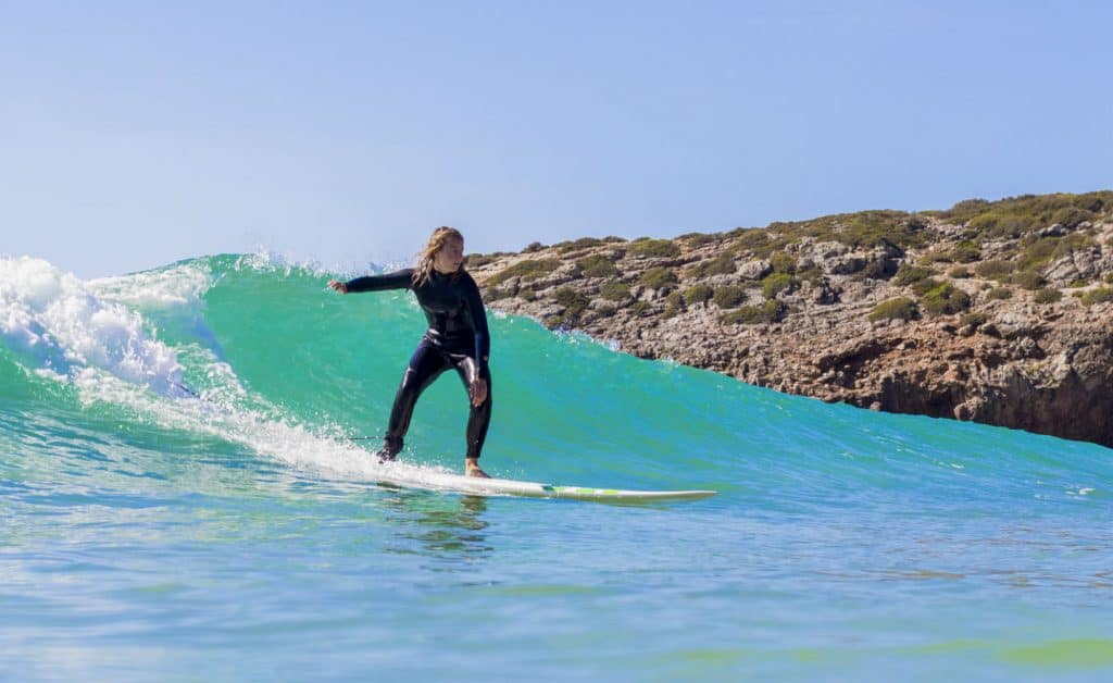 Portugal Surflife Atlantic Riders Zavial Surf girl