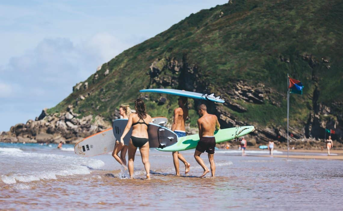 Spain Zarautz Surf Village Surf beachshot 2