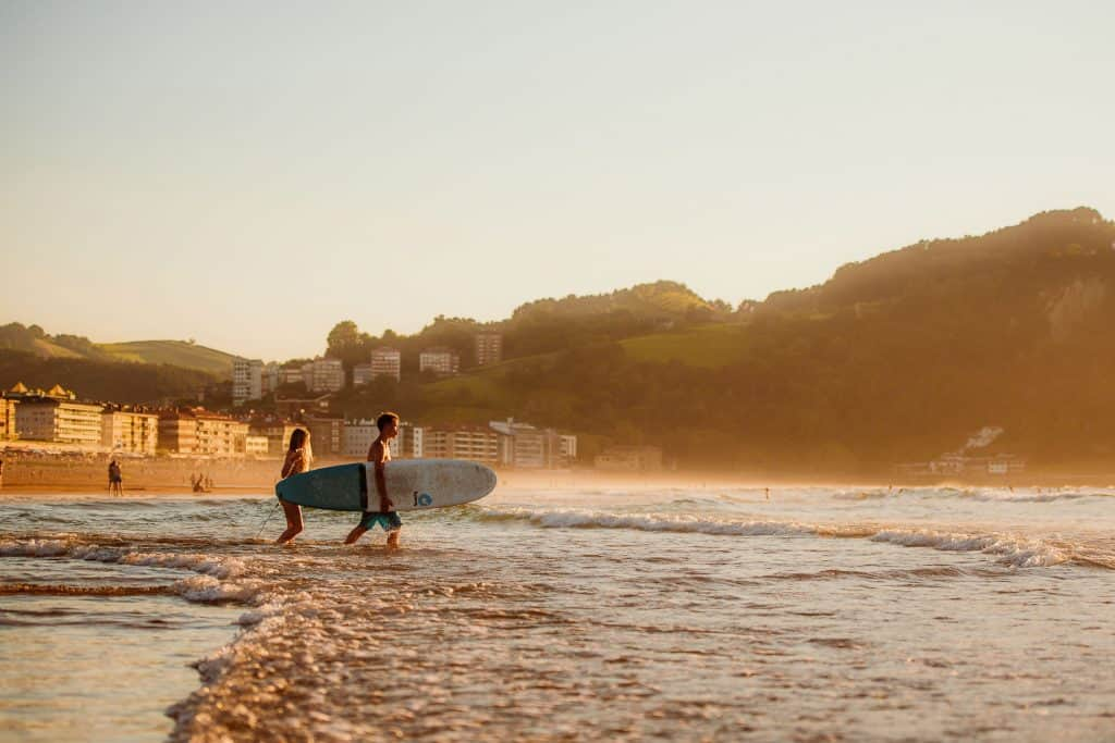 Spain Surf Village Zarautz Surf beachshot 3