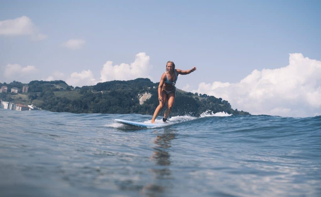 Spain Surf Village Zarautz surf girl