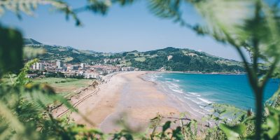 Zarautz Surf Village view beach and village