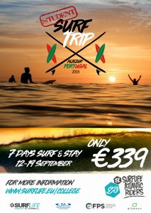 Surflife Atlantic Ridera College week poster