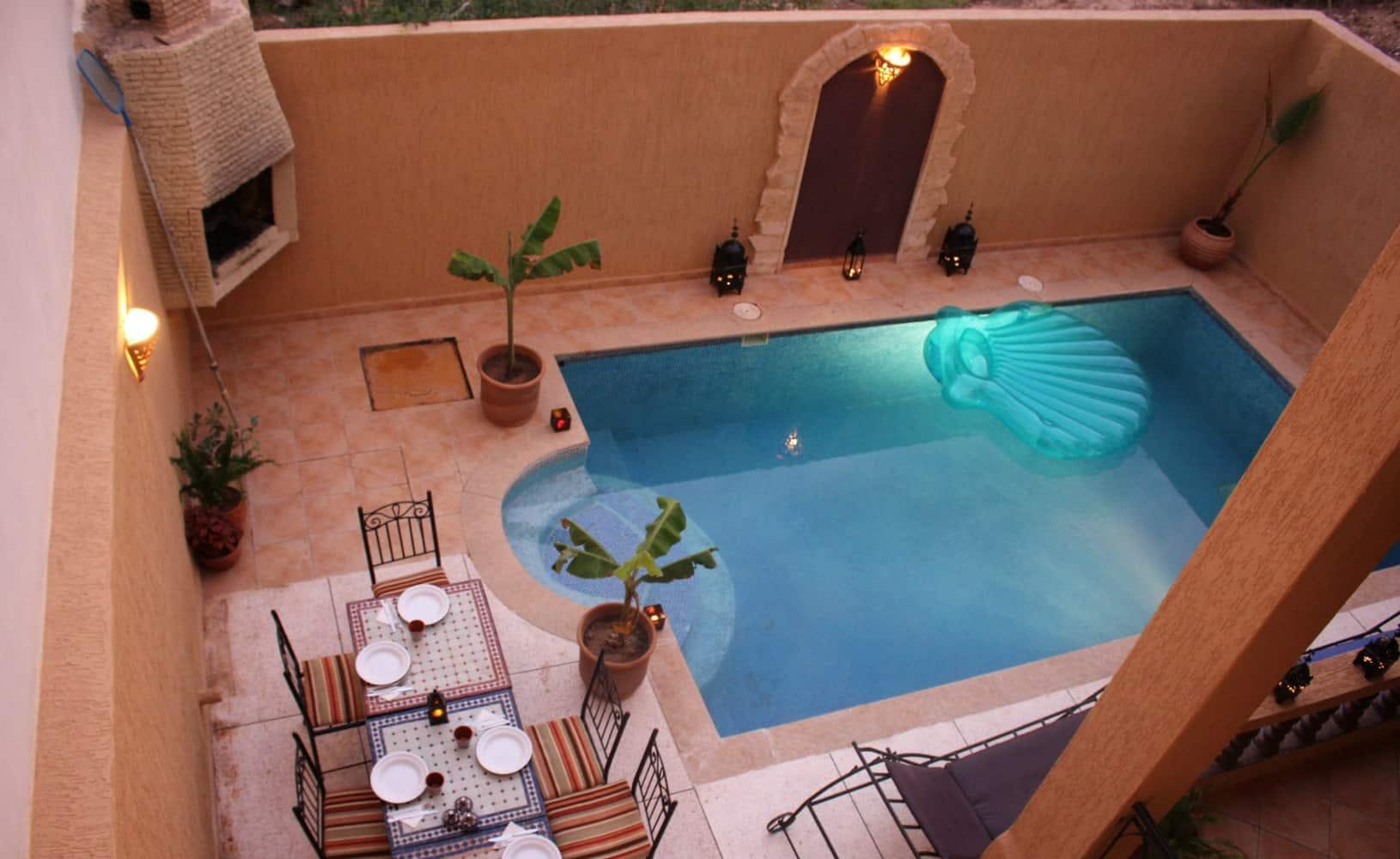 Morocco Chernaki Surf Experience Garden pool