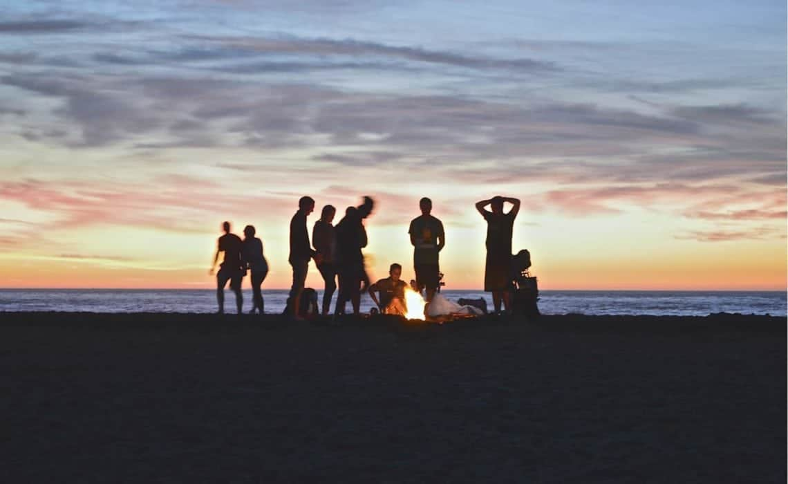 Morocco Chernaki Surf Experience activities Bonfire