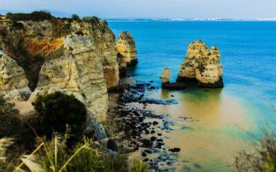 Portugal Algarve coastline clifs and beach