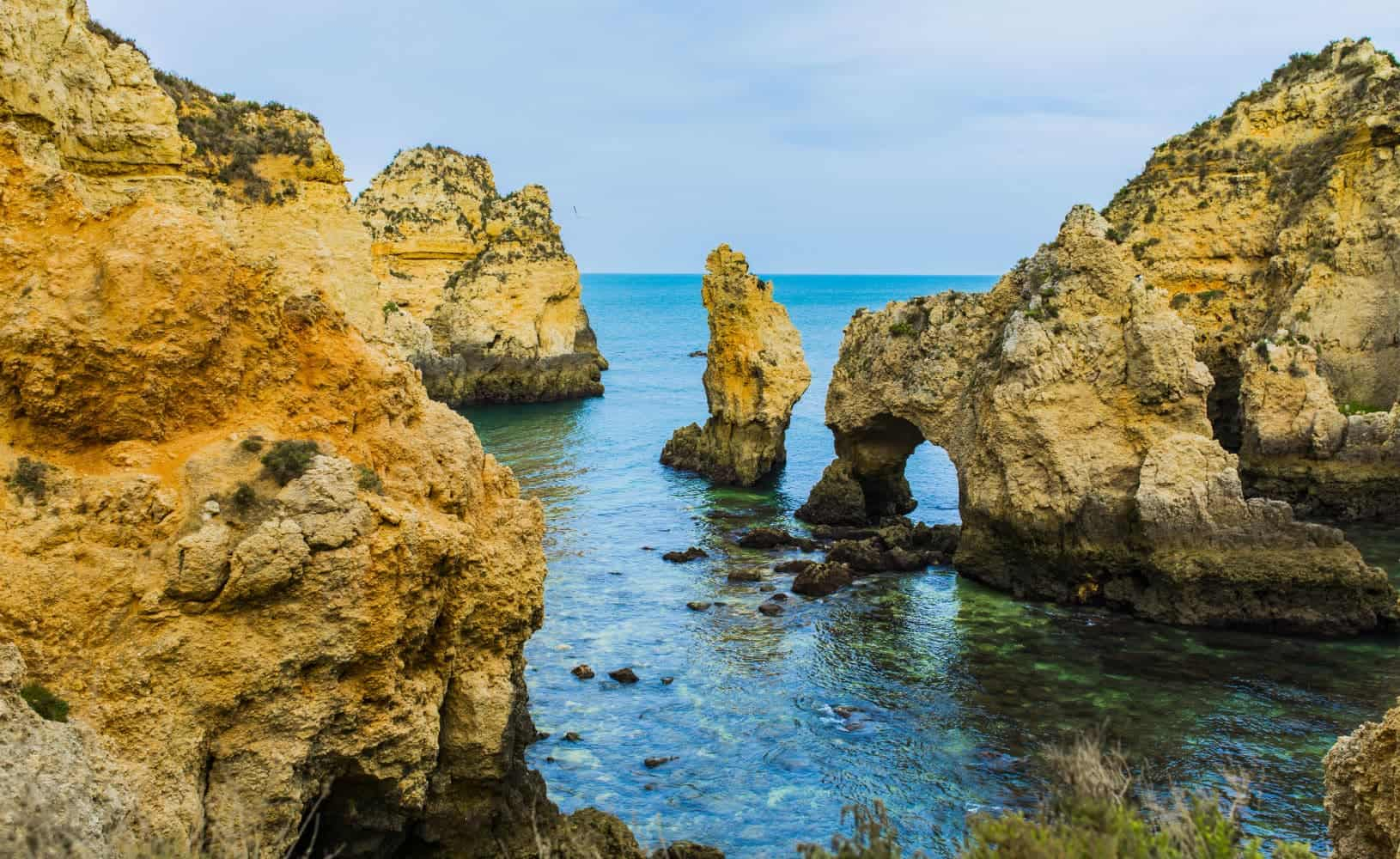 Portugal Algarve coastline clifs