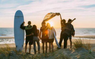 France O'Neill Surflife Carcans sunset beach friends