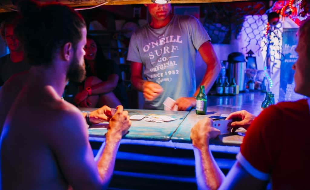 France Surflife Mimizan Deluxe bar games at night