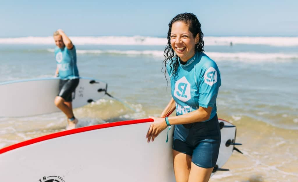 France Surflife Mimizan Deluxe dune surf lesson smile