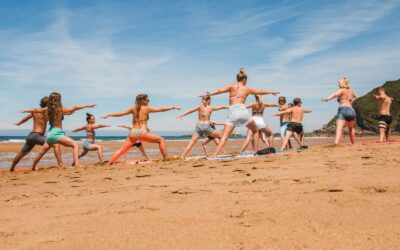 Spain Zarautz Surf Village beach yoga