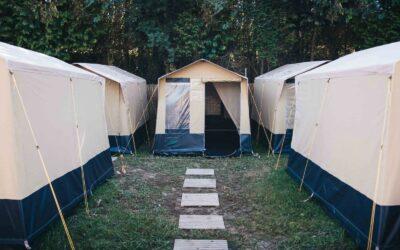 Spain Zarautz Surf Village bungelow tent