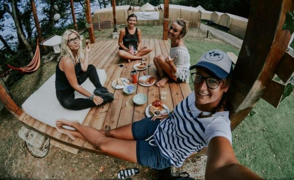 Spain Zarautz Surf Village chill bali hut