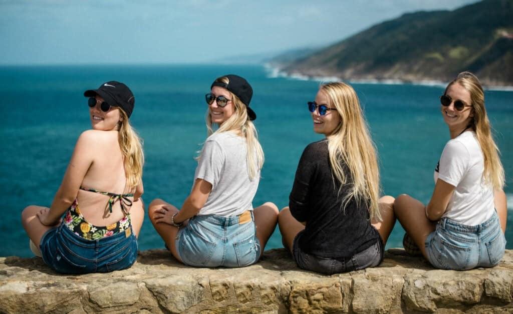 Spain Zarautz Surf Village girls