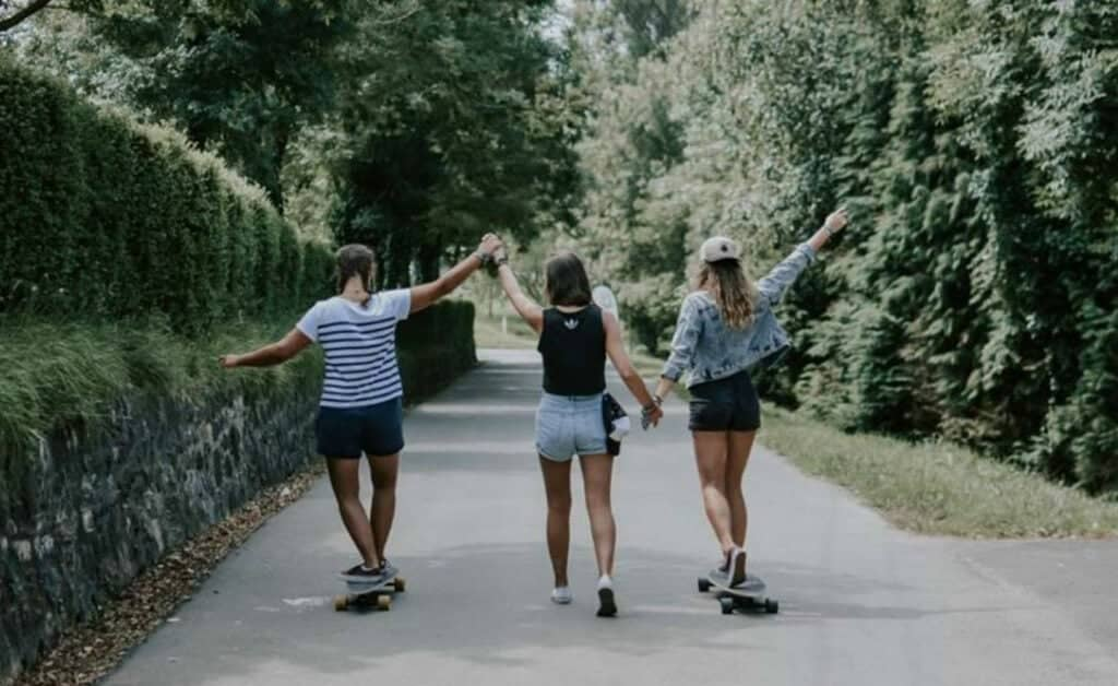 Spain Zarautz Surf Village skate longboarding