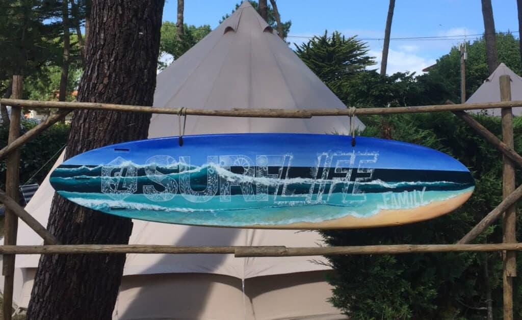 Surflife Family Mimizan surfboard sign 2