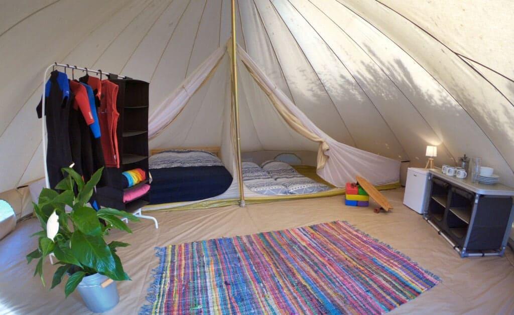 Surflife Family Mimizan tipi tent interior