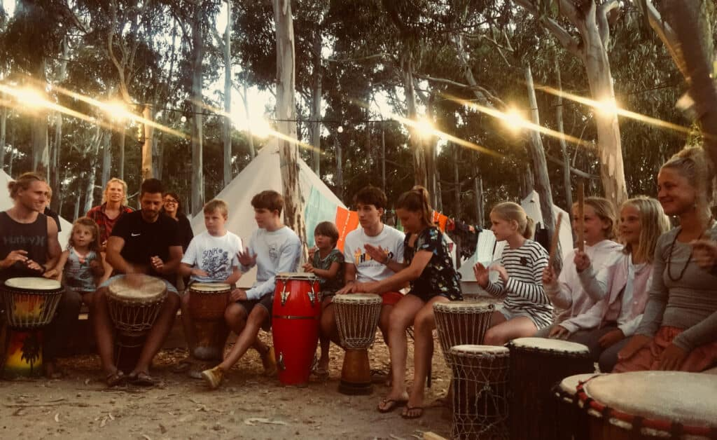 Surflife Family Portugal african drum night