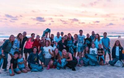 Surflife Family Algemeen Groep beach clean up_